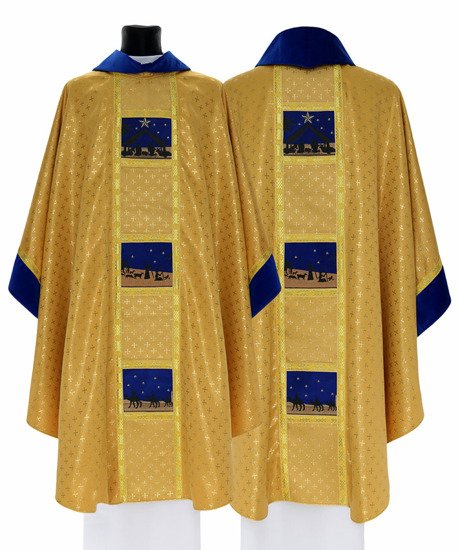 Gold Gothic Chasuble Christmas model 759