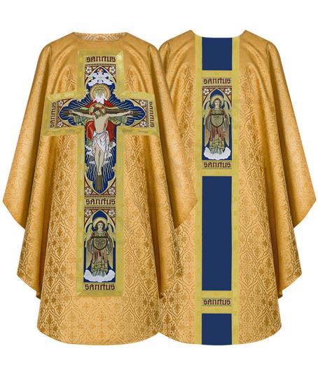 "Gold Gothic Chasuble ""Holy Trinity"" model 778"