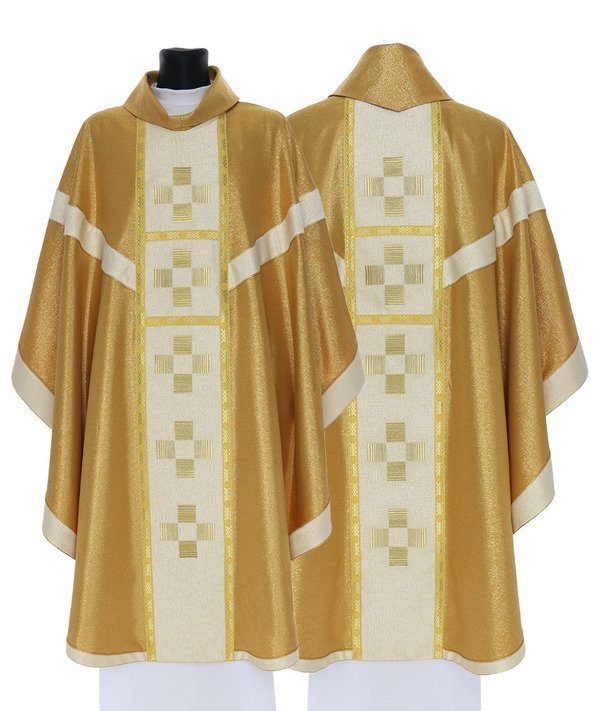 Gold Gothic Chasuble model 757