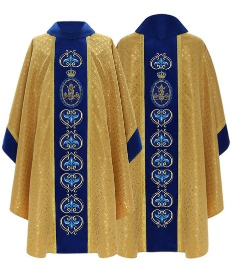 Gold Marian Gothic Chasuble model 765
