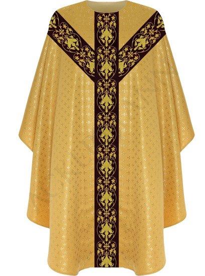 Gold Semi Gothic Chasuble model 557
