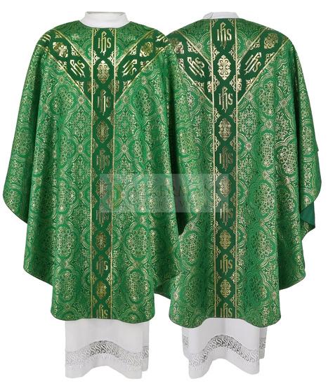 Green Semi Gothic Chasuble model 213