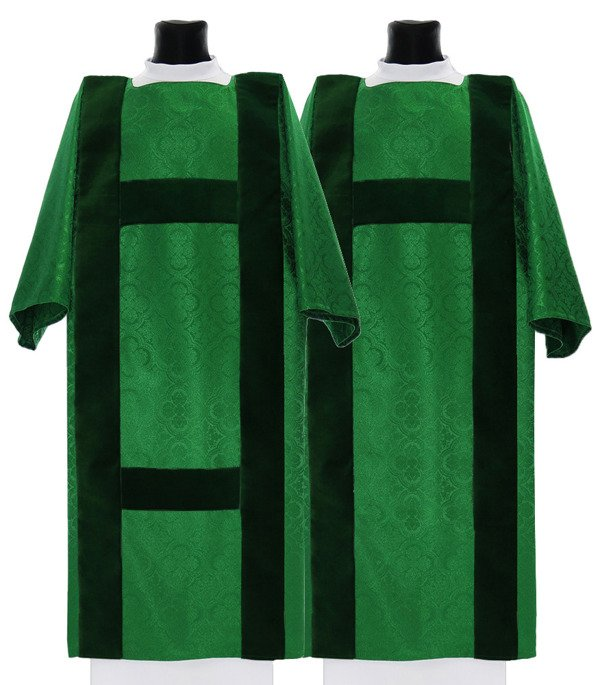 Green Set of Dalmatic & Tunicle model 208