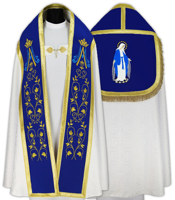 Marian Roman Cope Our Lady of Grace model 537