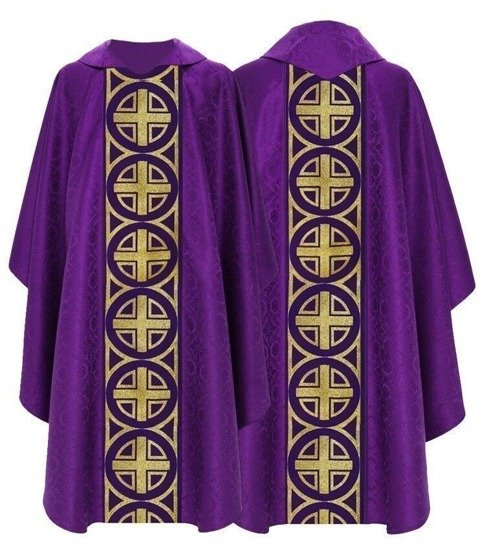 Purple Gothic Chasuble model 046