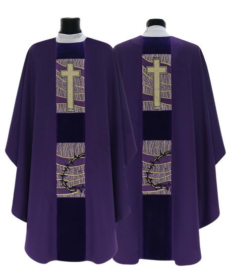 Purple Gothic Chasuble model 437