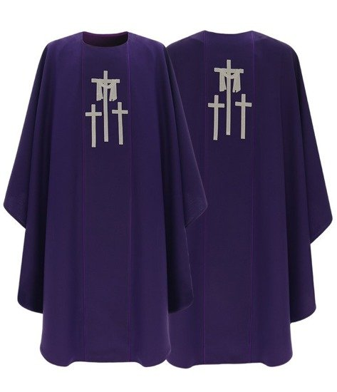Purple Gothic Chasuble model 438