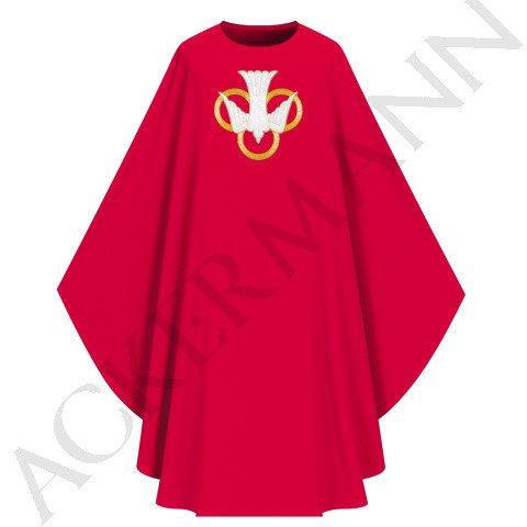 Red Gothic Chasuble Holy Spirit model 764
