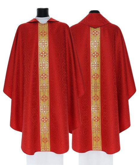 Red Gothic Chasuble model 114