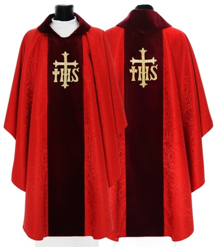 Red Gothic Chasuble model 596