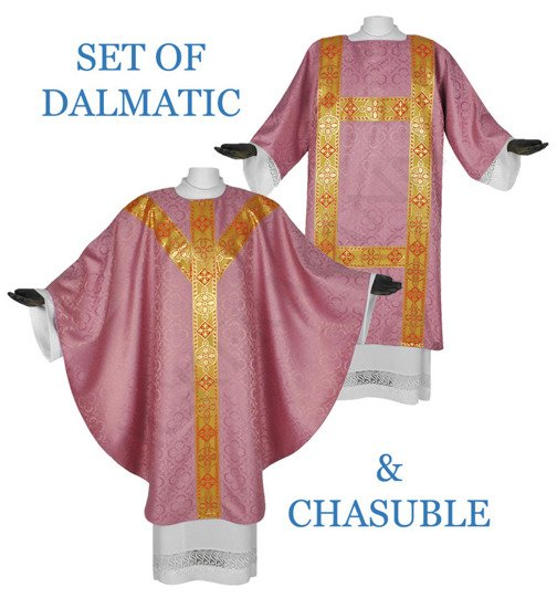 Rose Set of Gothic Chasuble with dalmatic model 114